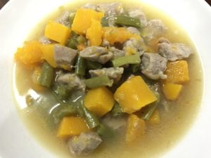 Butternut Squash Chicken (or Pork) Soup