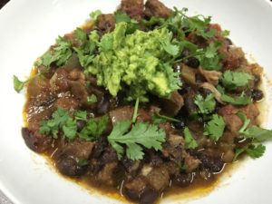Slow Cooked Black Bean Chili With Pork